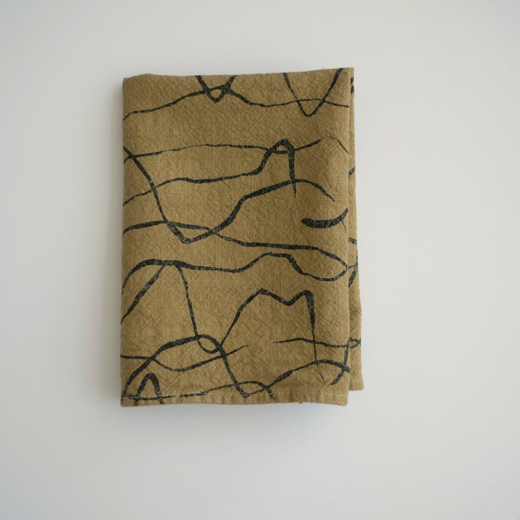 Jenny Pennywood- Weave Tea Towel, Mulch/Honey