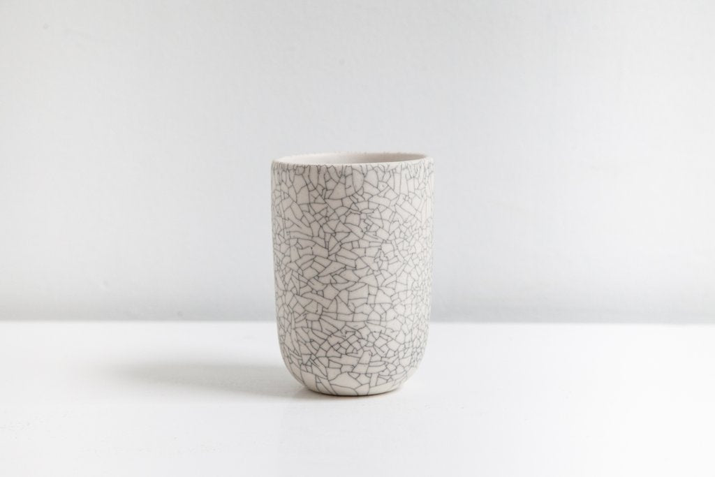 Earthen- Tumbler, crackle