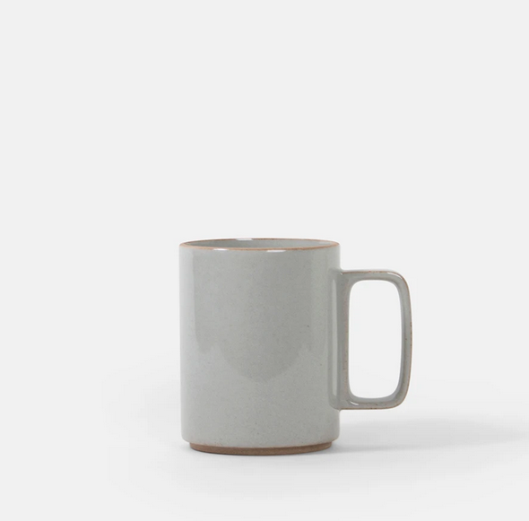 Hasami Porcelain-Tall Mug, Gloss Grey