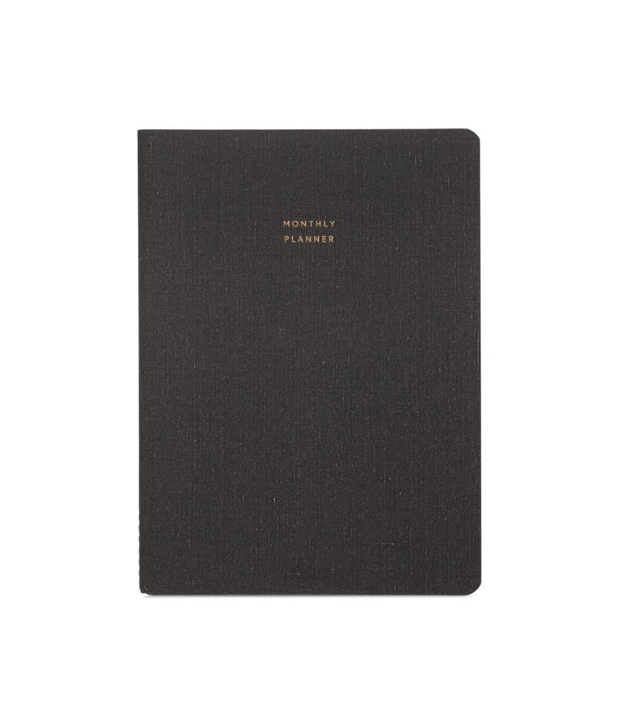 Appointed- Large Monthly Planner, Charcoal Grey