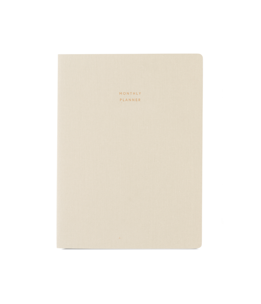 Appointed- Large Monthly Planner, Natural Linen