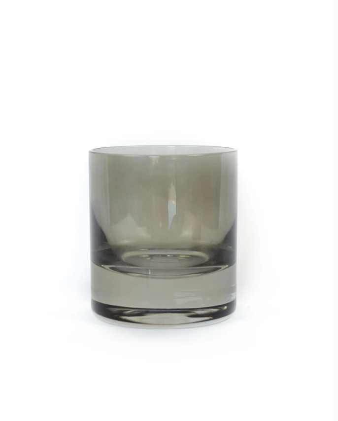 Estelle Colored Glass - Rocks Glass, Gray Smoke