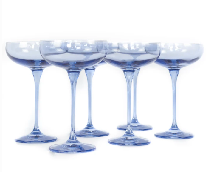 Estelle - Champagne Glass in Cobalt