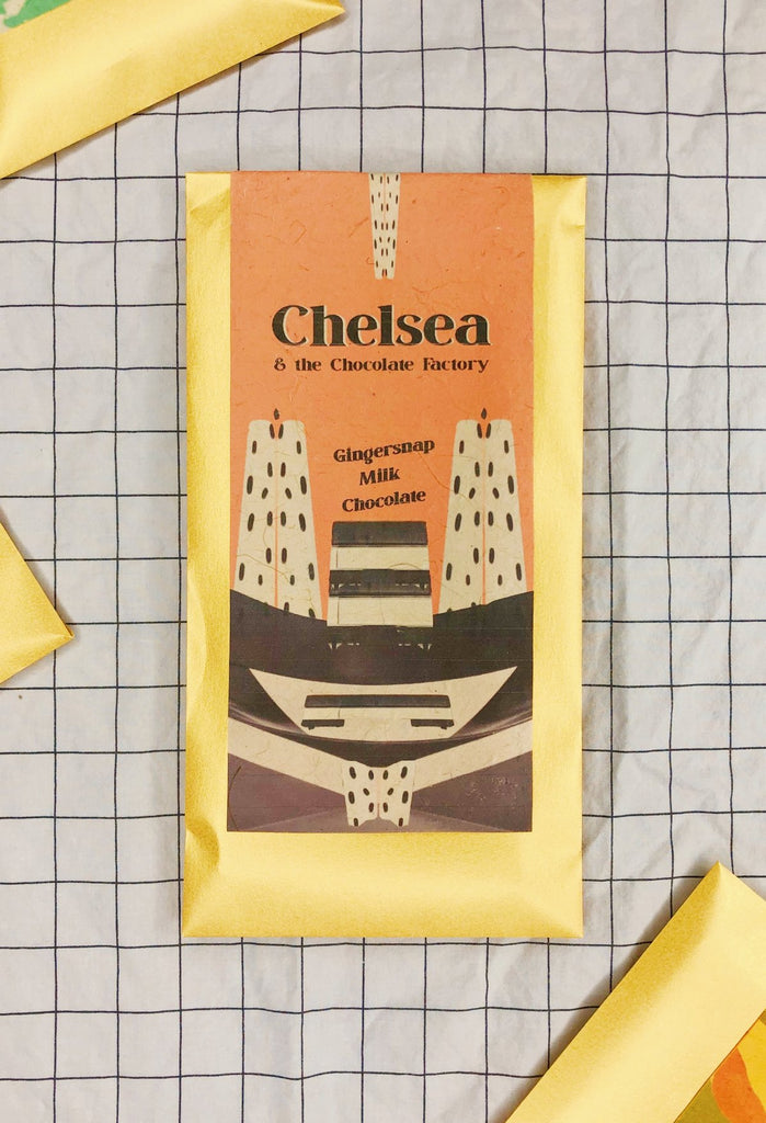 Chelsea & The Chocolate Factory- Gingersnap Chocolate, 2 oz.