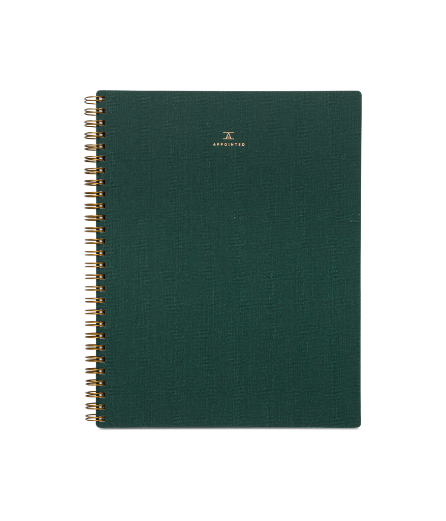 Appointed- Notebook, Hunter Green, Grid Pages