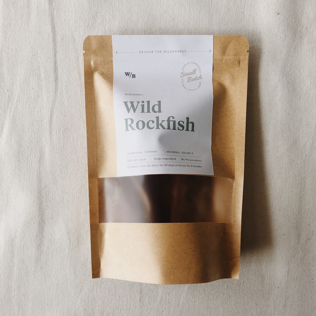 WilderBites - Wild Rockfish, 3oz. Bag (dog chews)