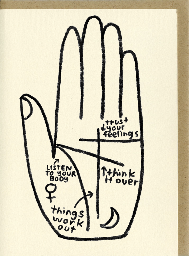 People I've Loved- Palm Reader Card