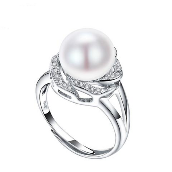 Freshwater Pearl Sterling Silver Adjustable Ring