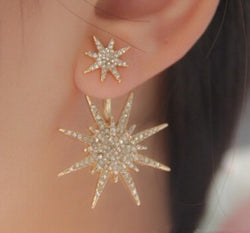 Simple Crystal Little Shining Star Earrings