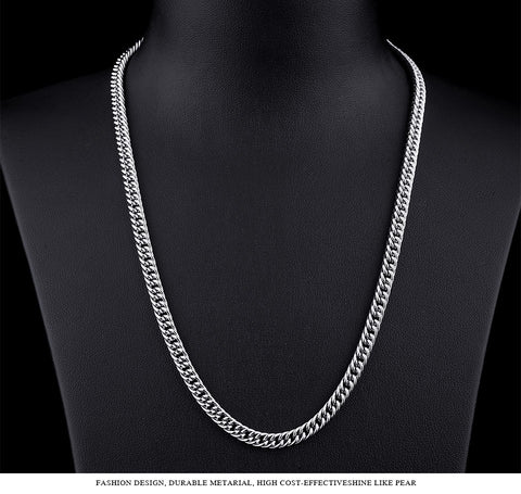 Stainless Steel Classic Silver Chain Necklace