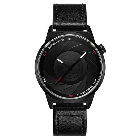 Black Photo Shutter Face 42mm Watch