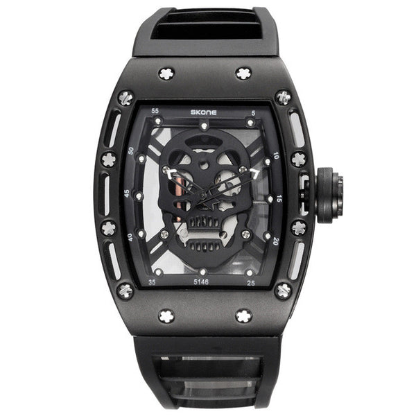 Hollow See Through Skull Watch