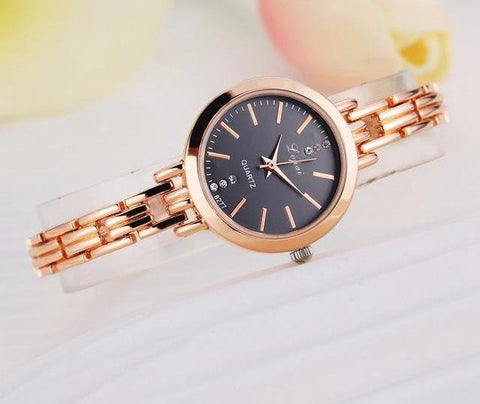 Classic Round Thin Band Women's Timepiece