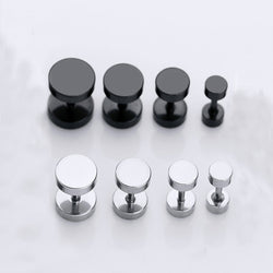 Workout Double Sided Titanium Dumbbell Stud Earring