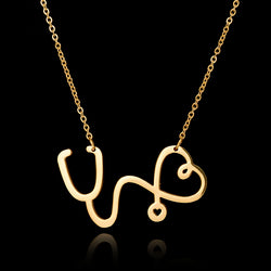 Stethoscope Heart Necklace for Nurses and Doctors