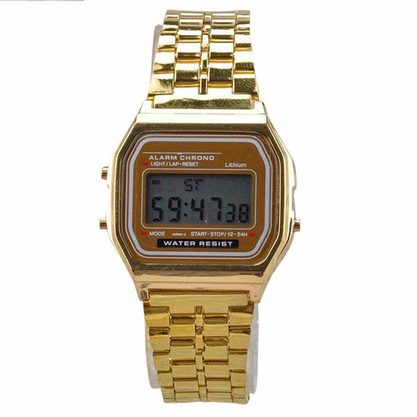 1990's Vintage Digital Display Rectangle Metal Watch