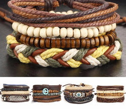 Multilayer Leather Rope Woven Bracelet