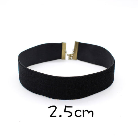 Simple Slim and Wide Choker Necklace