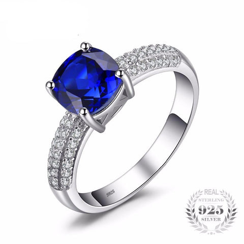 2.6 Carat Blue Sapphire Solitaire Engagement Ring