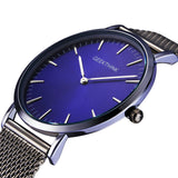 Thin Sleek Stainless Steel Mesh Strap Watch