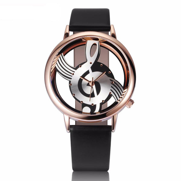 Musical Note Hollow Leather Watch