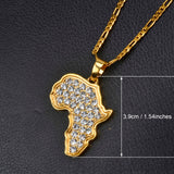 Gold Africa Pendant Chain Pendant Necklace