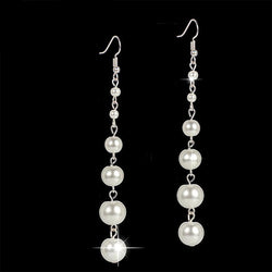 Big Long Pearl String Drop Earrings