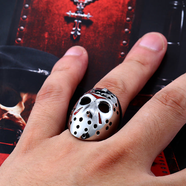Scary Halloween Hockey Mask Ring