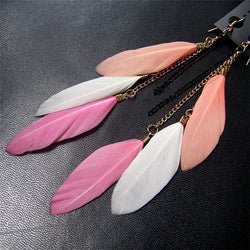 Cute Feather Dangle Earrings