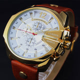 Old Fashioned Luxury Leather Men's Watch