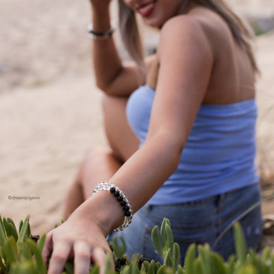 Clarity White Crystal Diffuser Bracelet