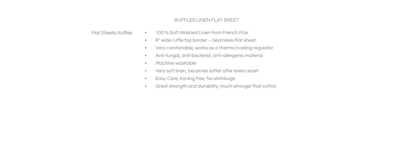 Features for Ruffled Flat Sheets