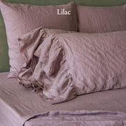 Side Ruffles Romantic Linen Pillowcases (set of 2)