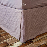 Split-Corner Linen Bed Skirt Lilac
