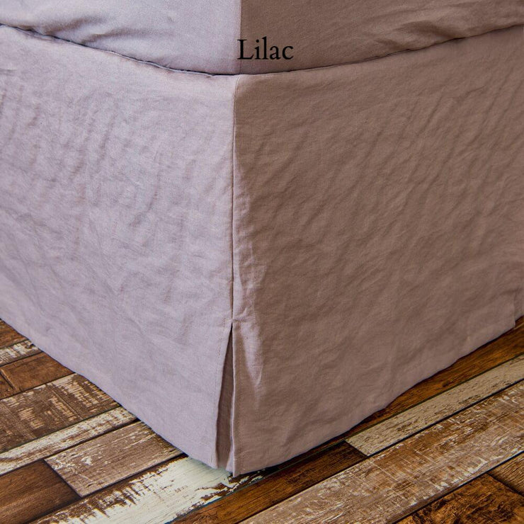 Linen Slit Corners Bed Skirt