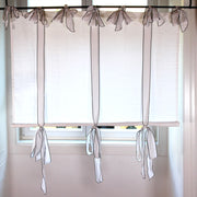 Bow Ties Linen curtain optic white