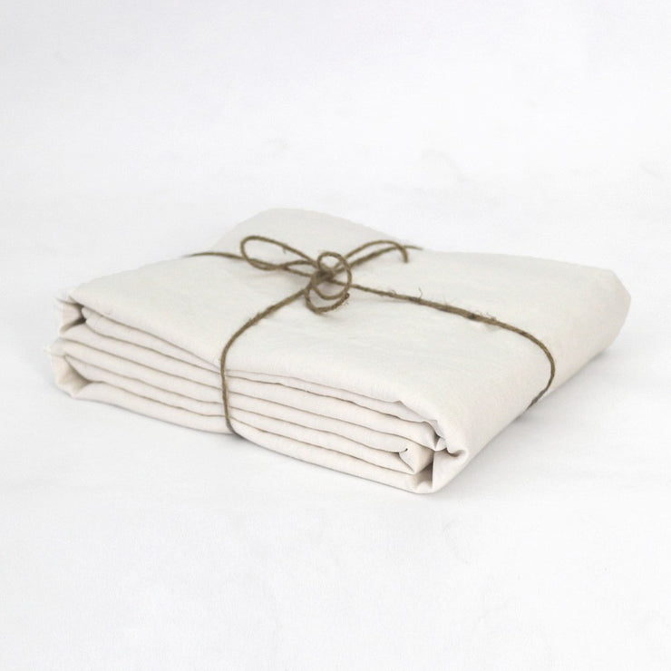 Chalk Fitted Sheet Folded