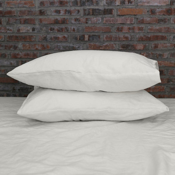 Housewife Linen Pillowcases Pair Chalk