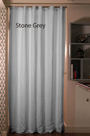 Blackout linen curtain Stone Grey