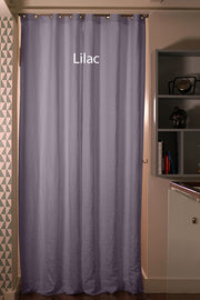 Pure Washed Linen Curtain Drapery, Lilac