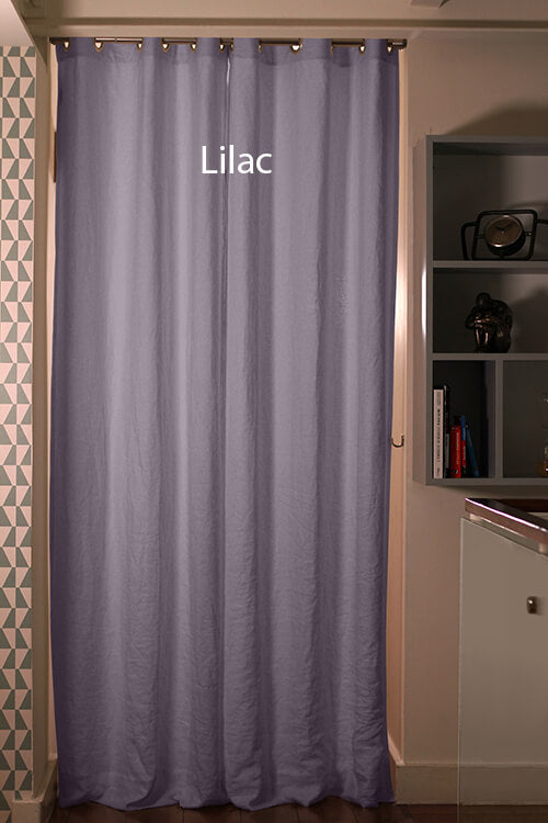 Blackout linen curtain Lilac
