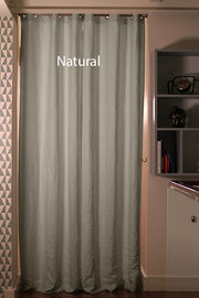 Linen Curtain Drapery in custom size, Natural