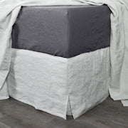 Bed Linen Fitted Sheet Lead Grey