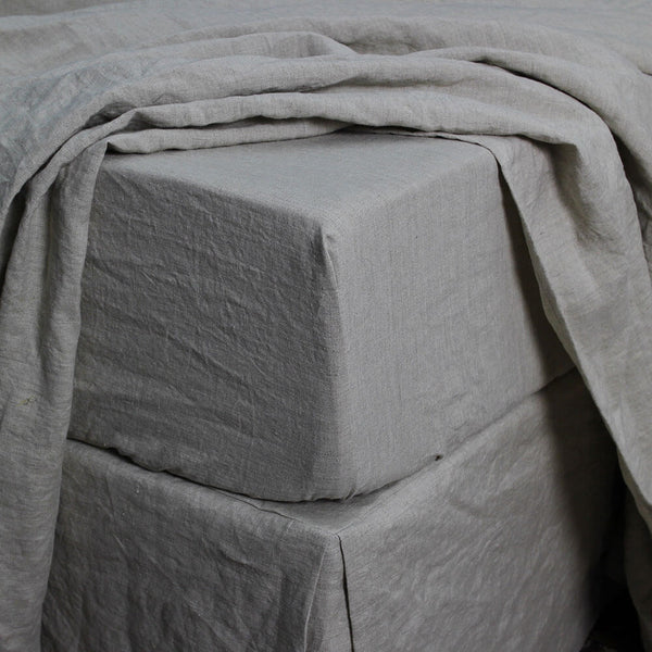 Linen Fitted Sheet Natural