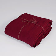 Bed Linen Flat Sheet Burgundy