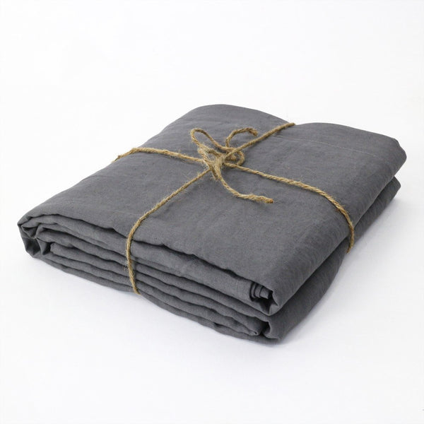 Bed Linen Flat Sheet Lead Grey Duvet Cover