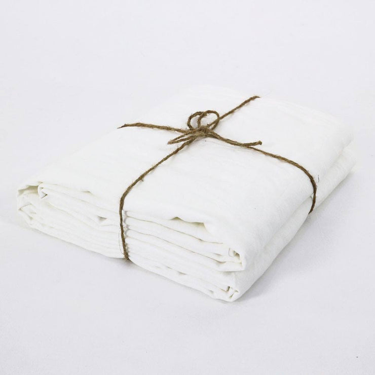 Optic White Pure Linen Sheet