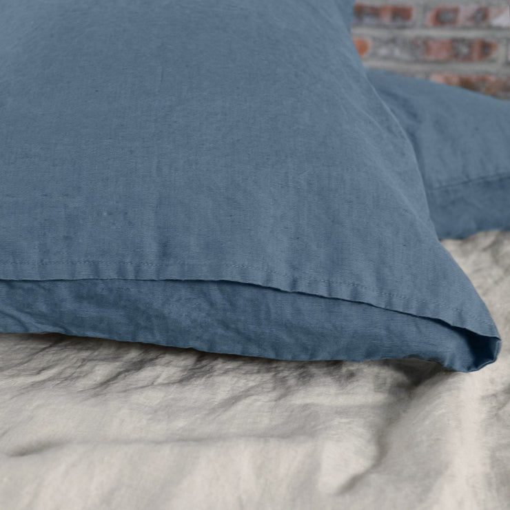 French Blue Bed Linen Pillow Covers