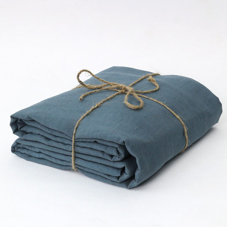 French Blue Bed Linen Fitted Bottom Sheet