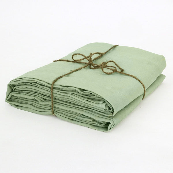 Green Tea Flat Sheet Well Folded Linen